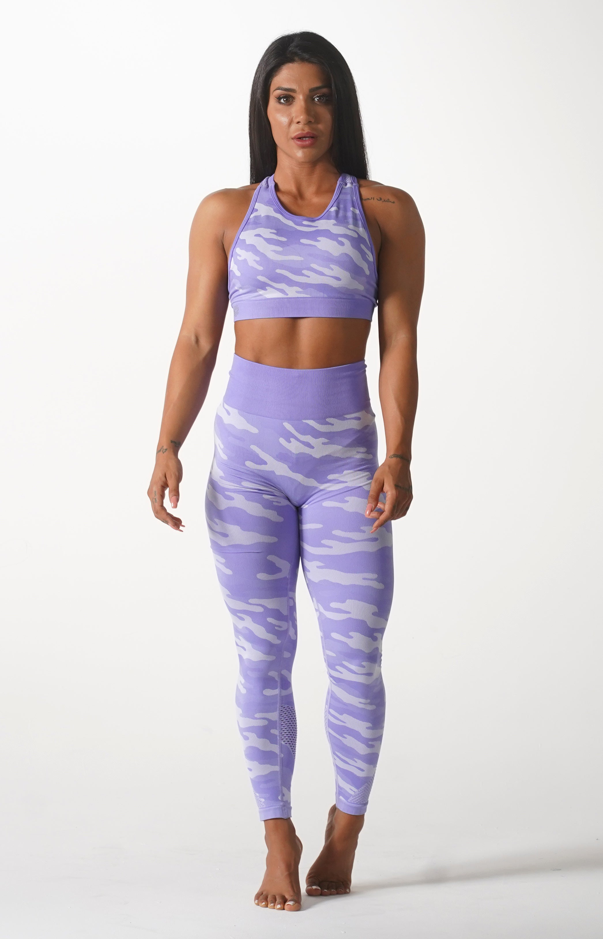 Purple Camo Leggings
