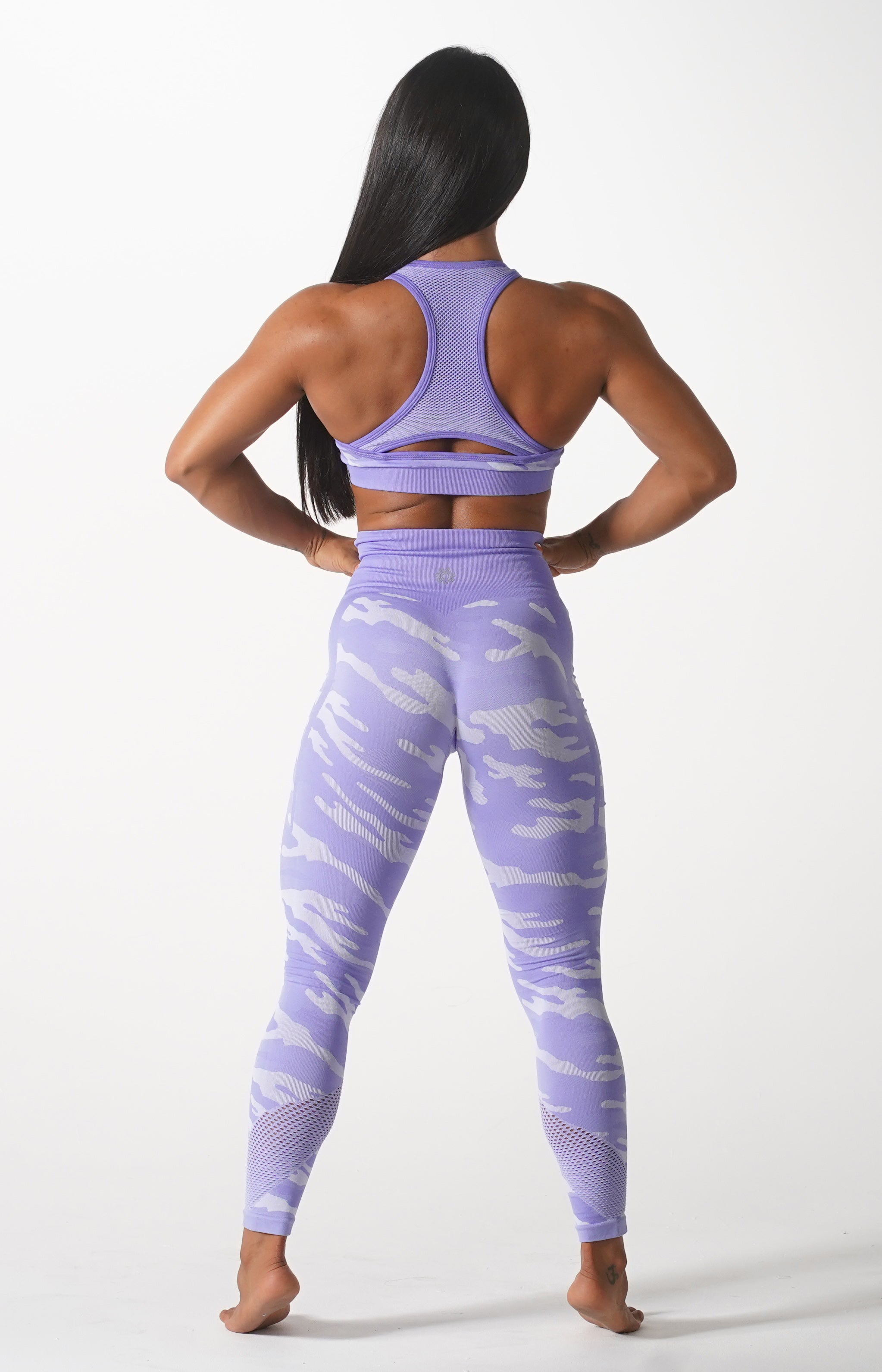 Purple Camo Sports Bra