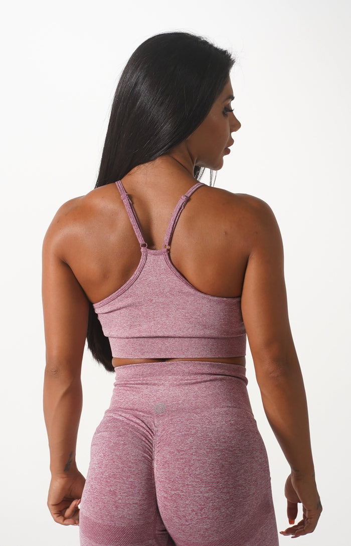 Pink Themeless Sports Bra