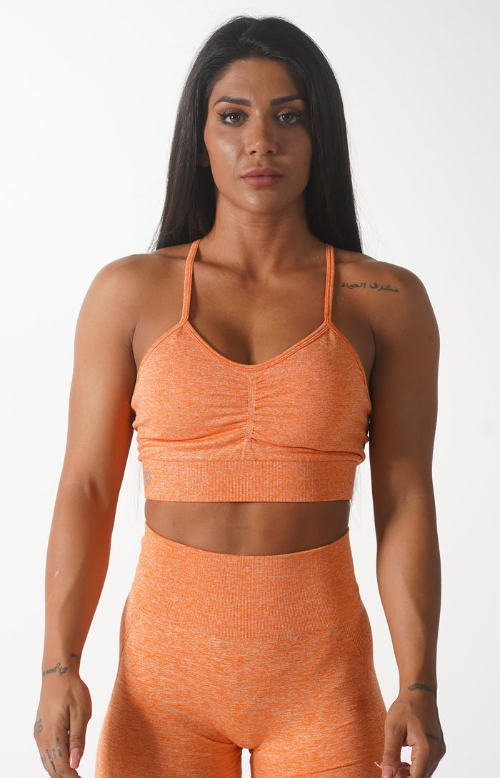 Orange Themeless Sports Bra