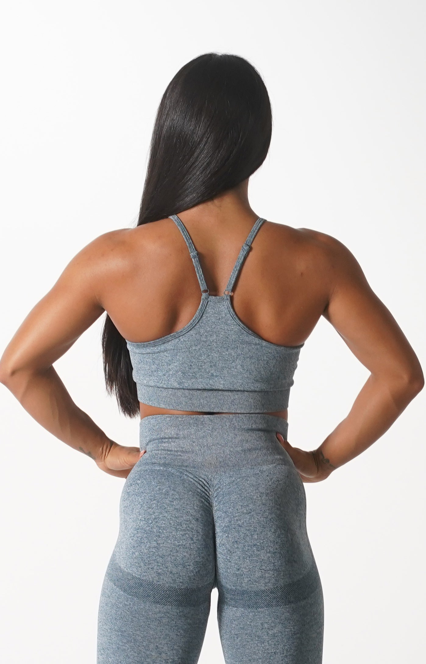 Grey Themeless Sports Bra