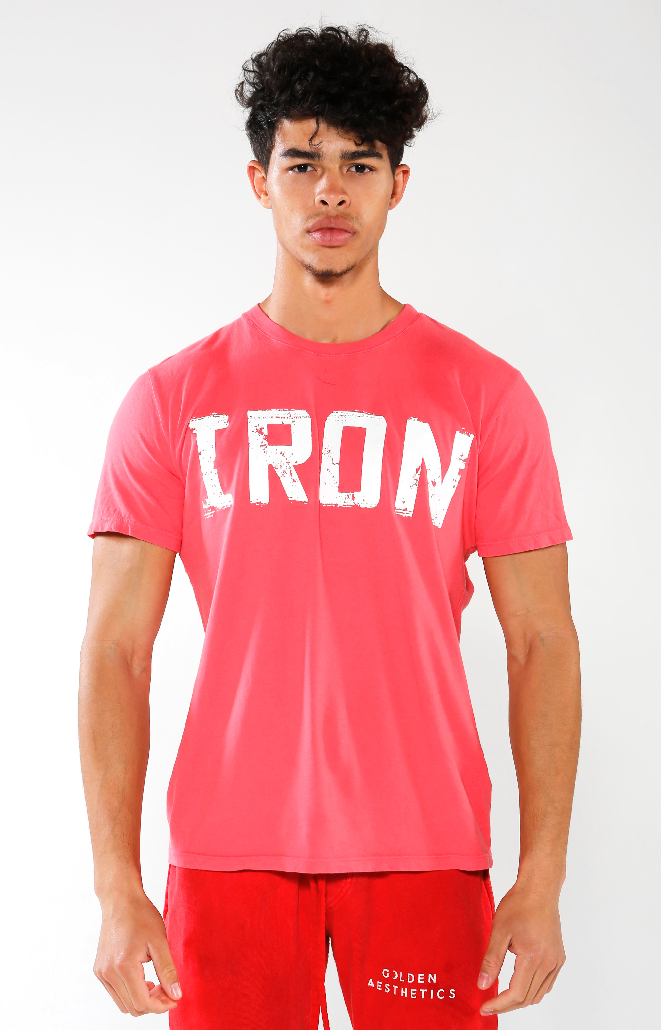Men's Red IRON T-Shirt | Golden Aesthetics - Golden Aesthetics