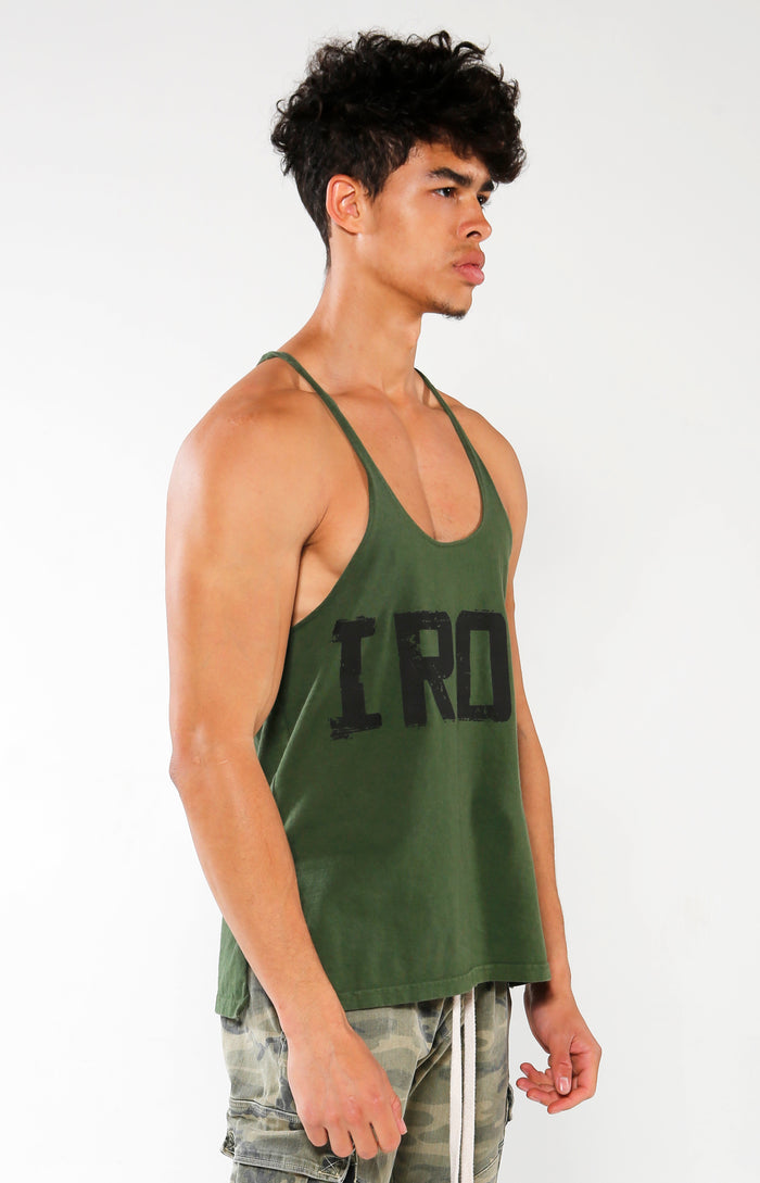 Men's Green IRON Stringer Tank | Golden Aesthetics - Golden Aesthetics