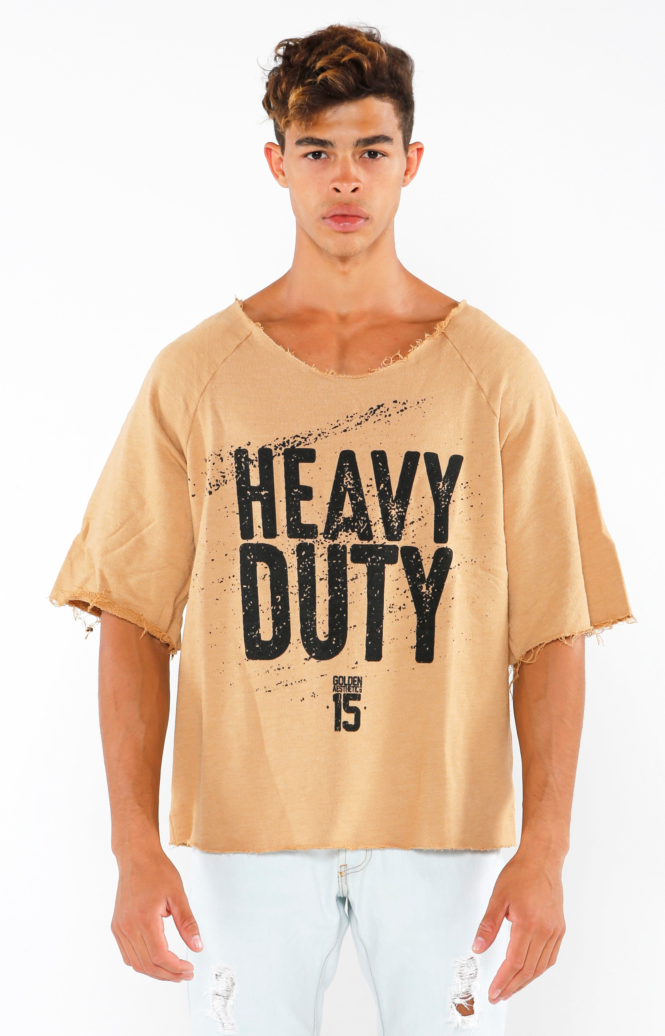 Heavy Duty Raw Cut Top - Taupe - Golden Aesthetics