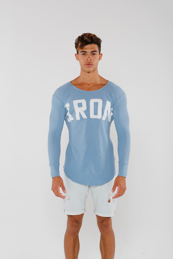 IRON Thermal Top - Faded Blue - Golden Aesthetics
