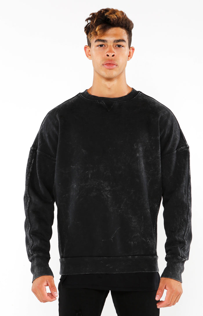 Section Sweater - Mineral Black - Golden Aesthetics