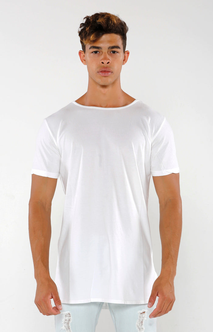 Split Hem Supima Short Sleeve - Ivory