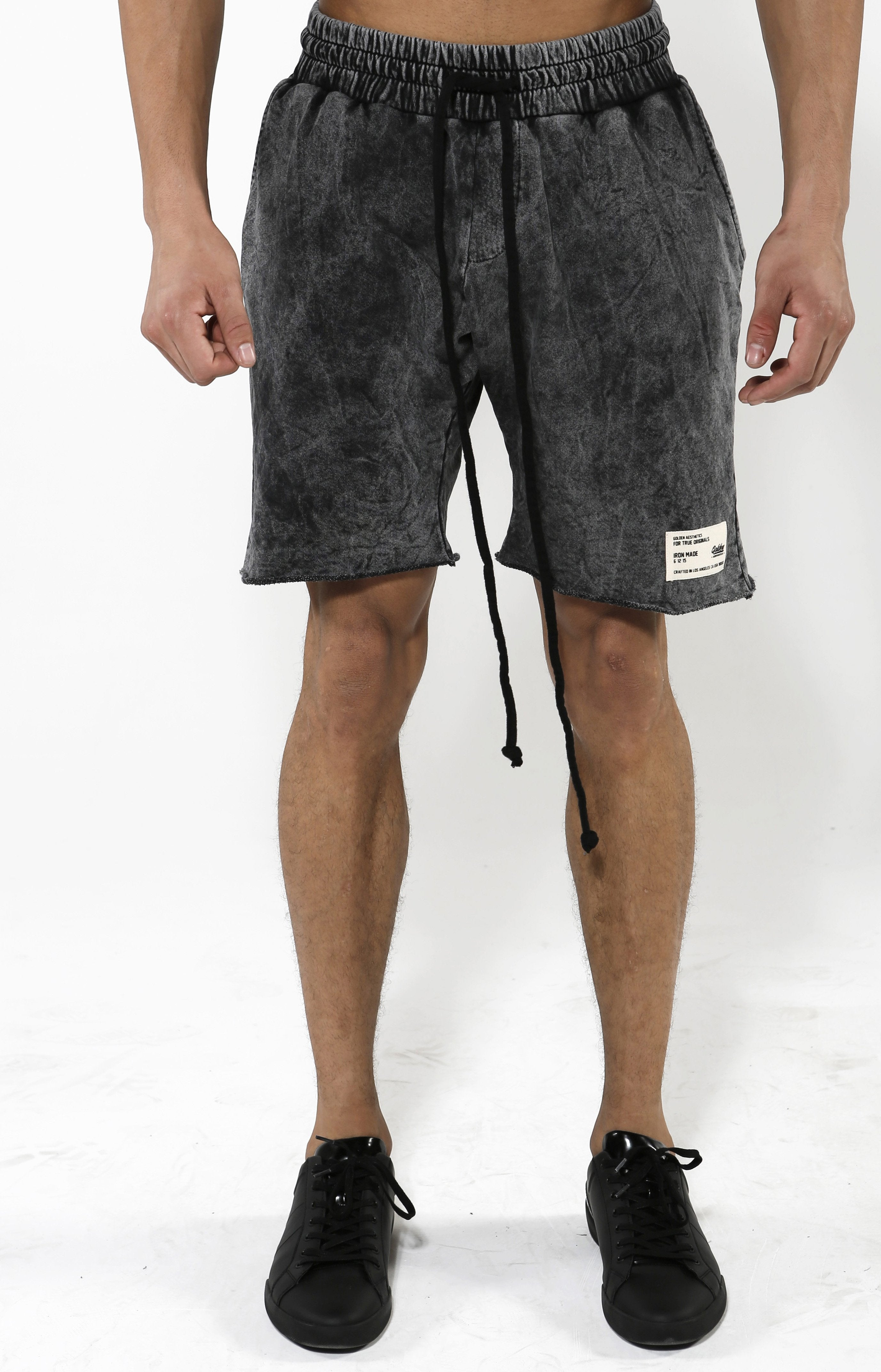 Classic Charcoal Shorts - Golden Aesthetics