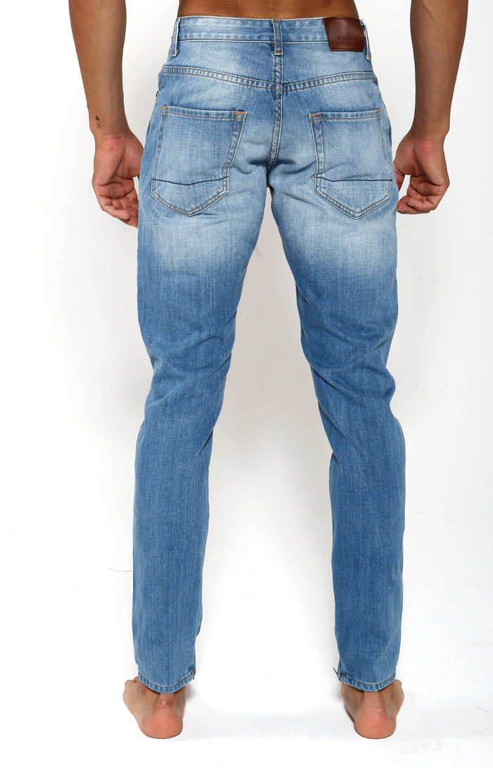 Tapered Stretch Denim - Indigo Blue