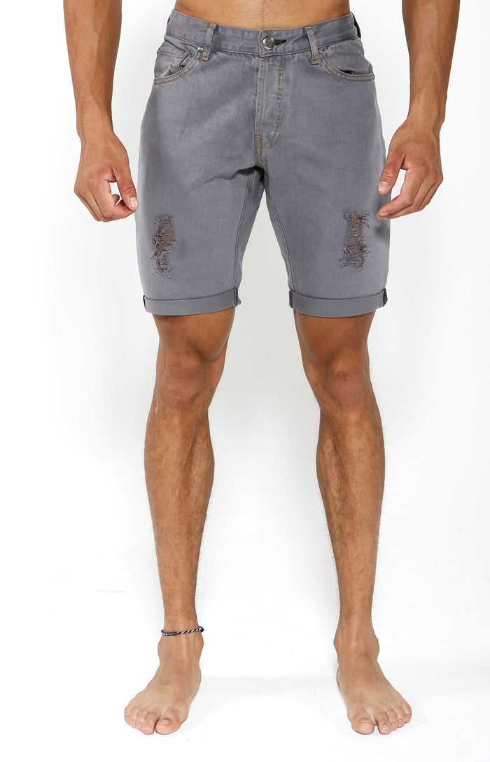 Denim Shorts - Slate Grey - Golden Aesthetics