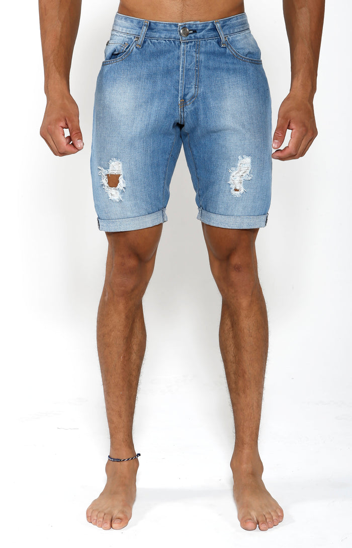 Denim Shorts - Indigo Blue - Golden Aesthetics