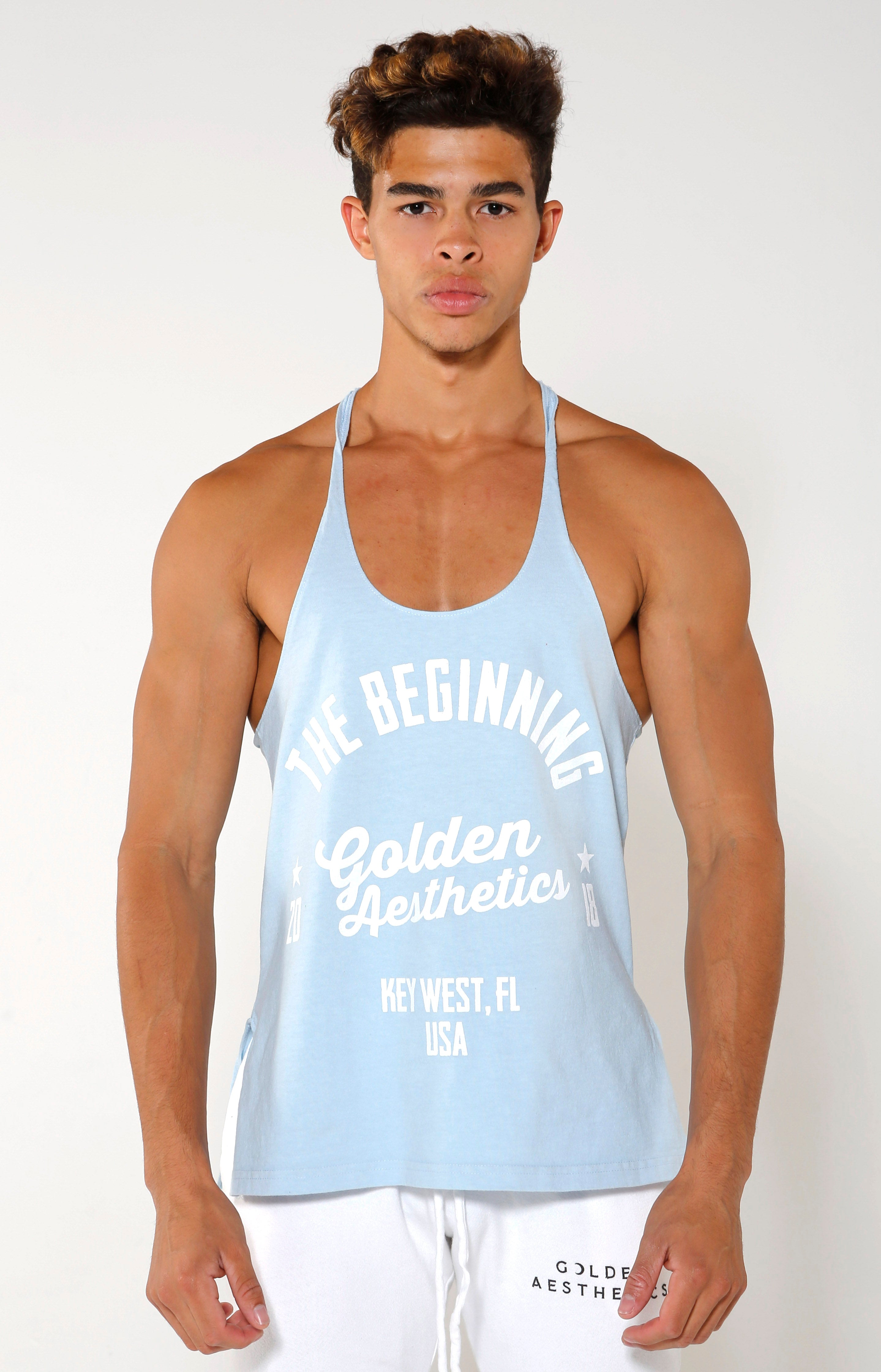 The Beginning Stringer - Baby Blue - Golden Aesthetics