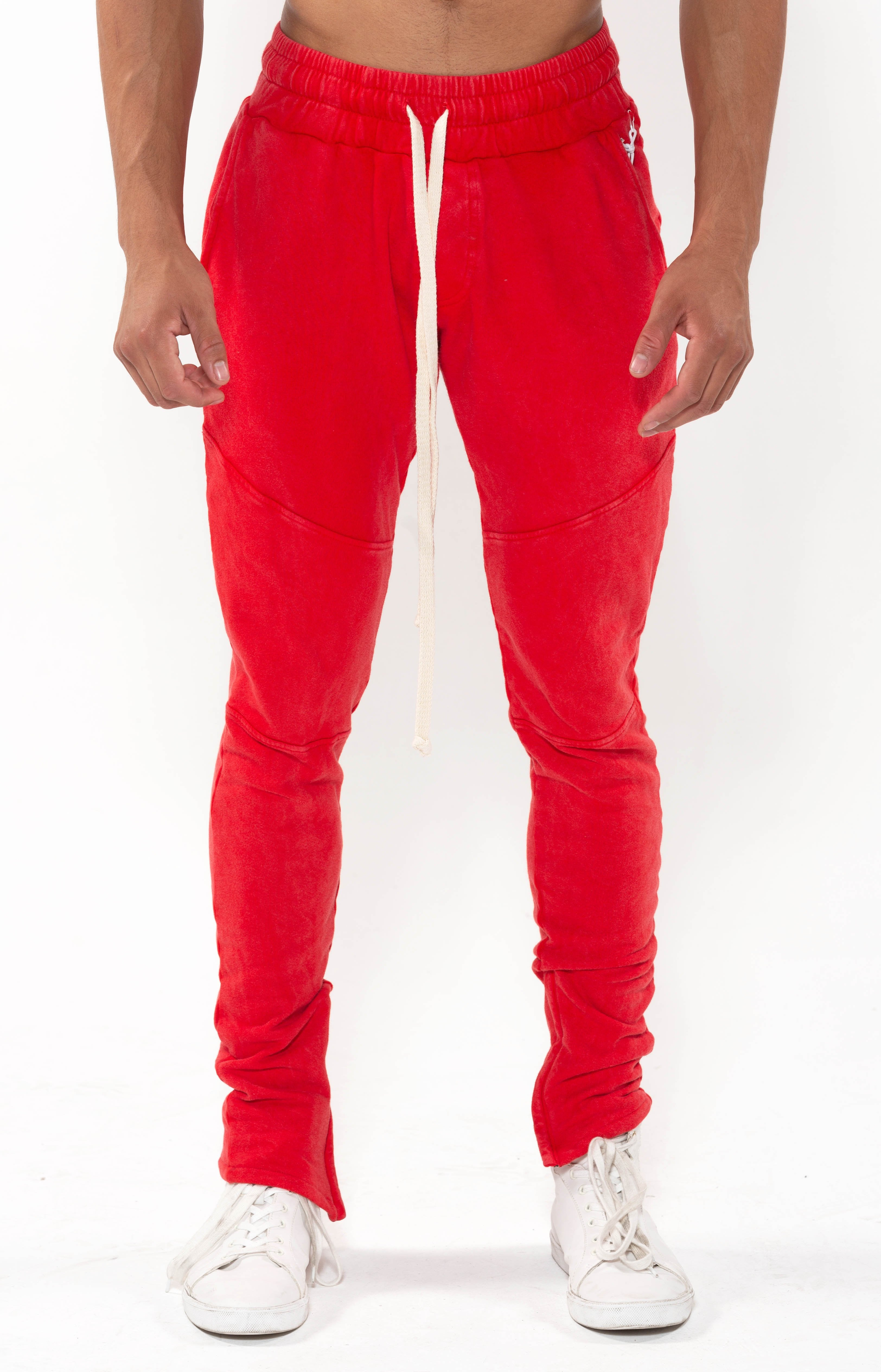 Mineral Joggers - Washed Red - Golden Aesthetics