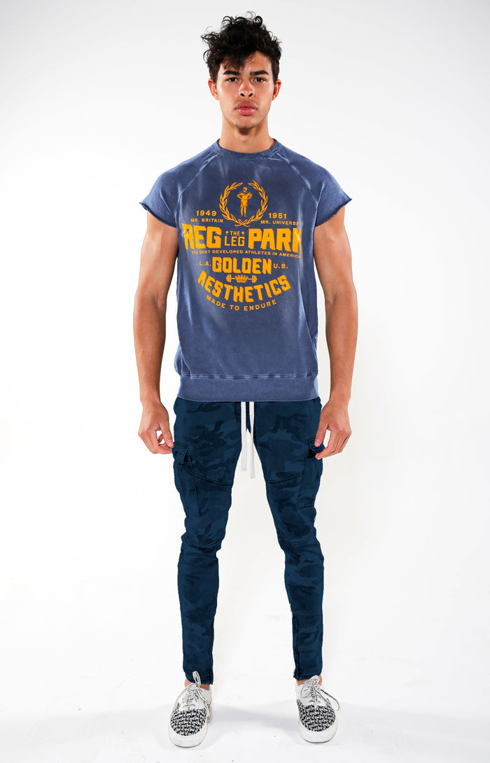 Men's Blue Reg Park Top | Golden Aesthetics