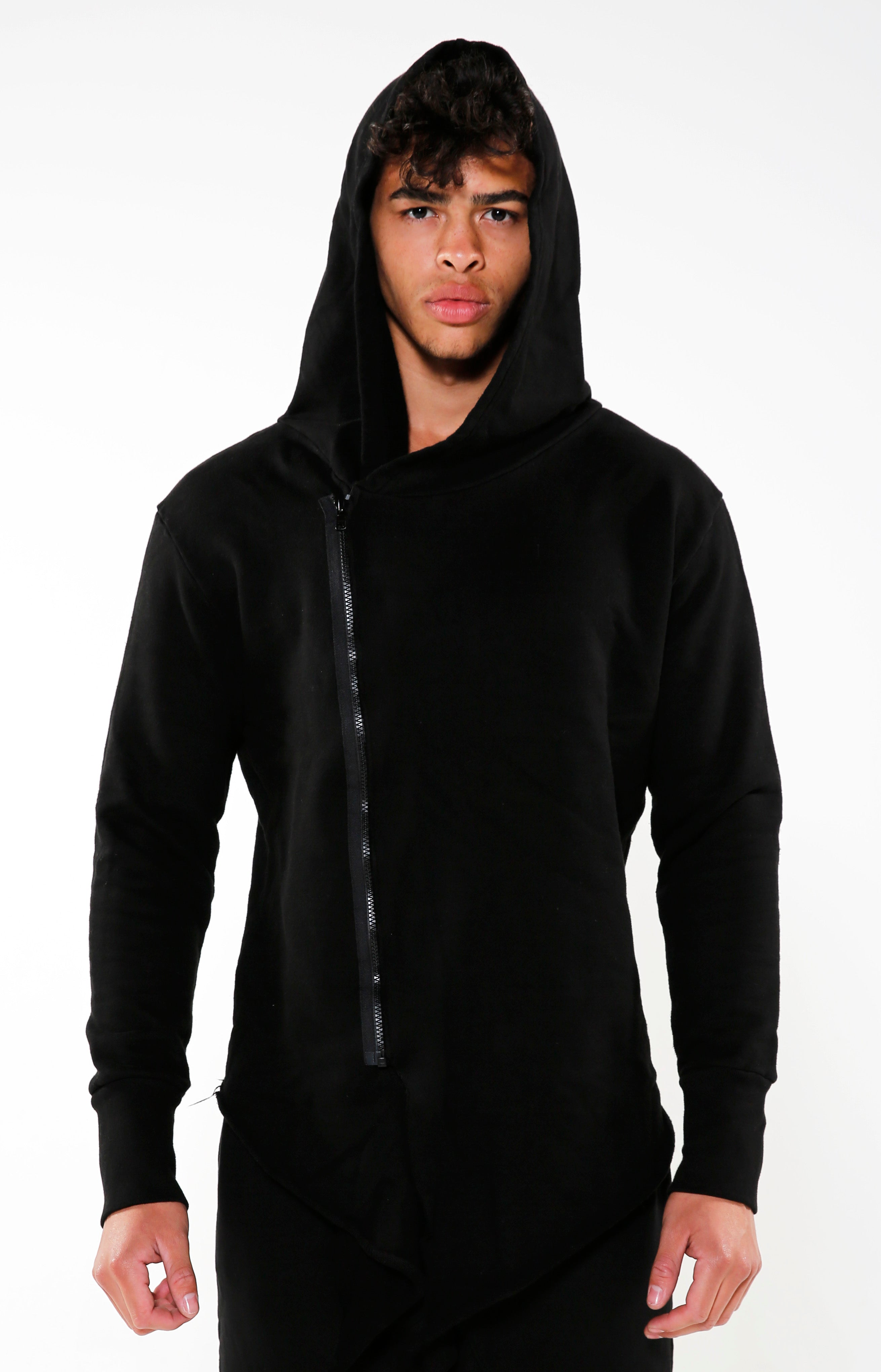 Men's Black Heavy Assassin Hoodie | Golden Aesthetics - Golden Aesthetics