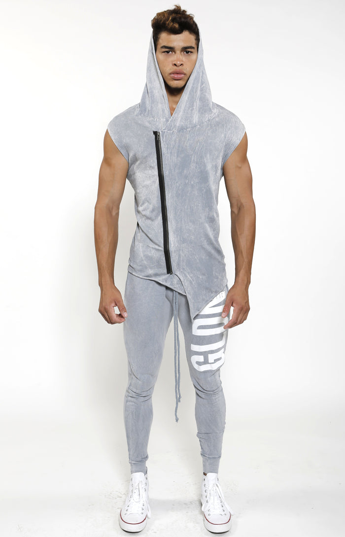 Sleeveless Assassin Hoodie - Cool Grey - Golden Aesthetics