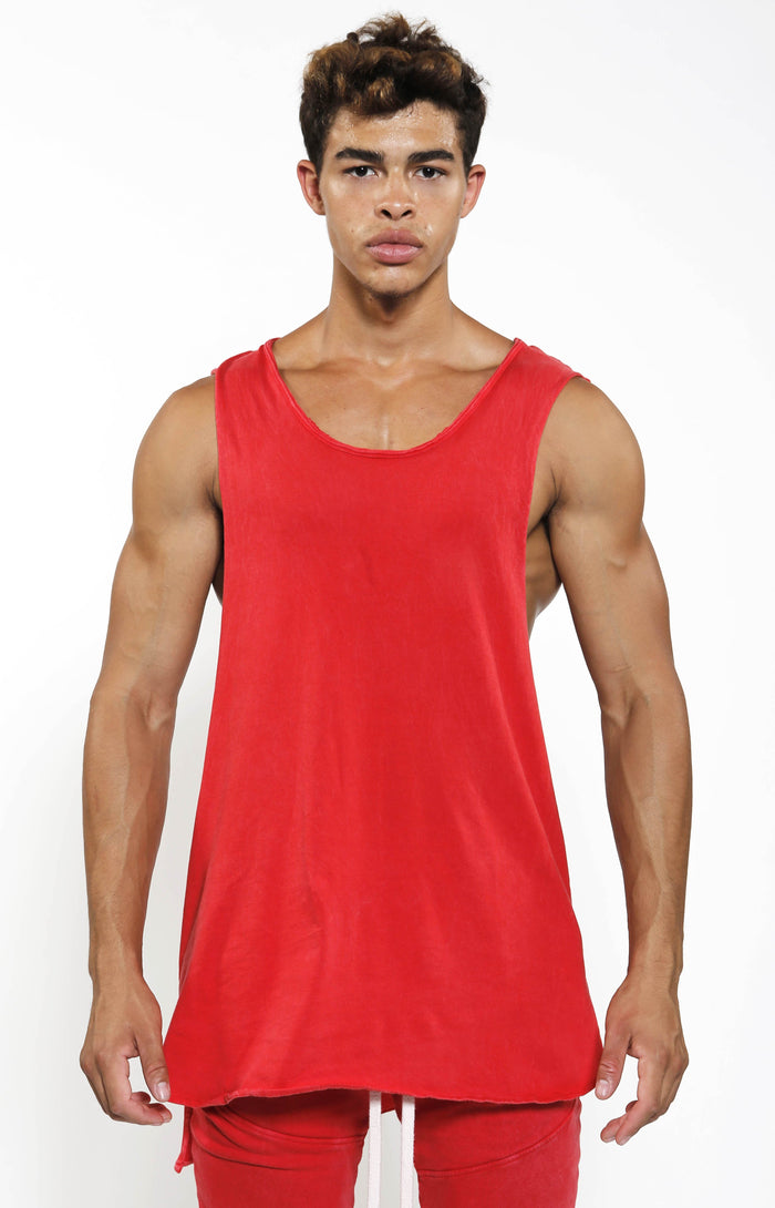 Street Tank - Vintage Red - Golden Aesthetics