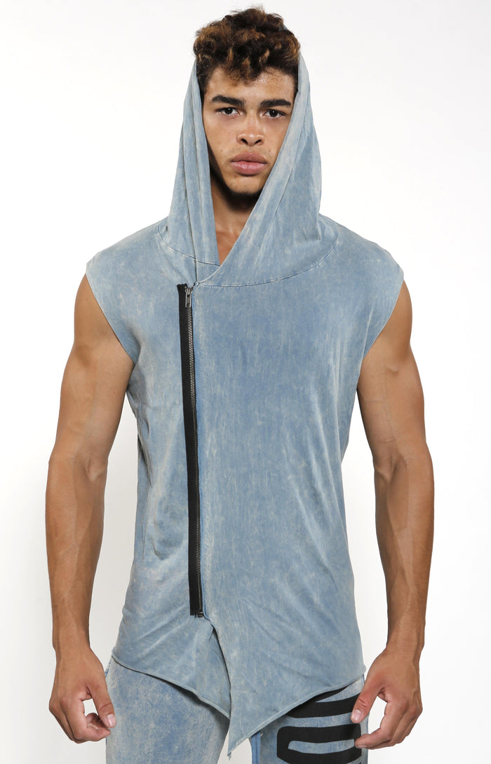 Sleeveless Assassin Hoodie - Slate - Golden Aesthetics