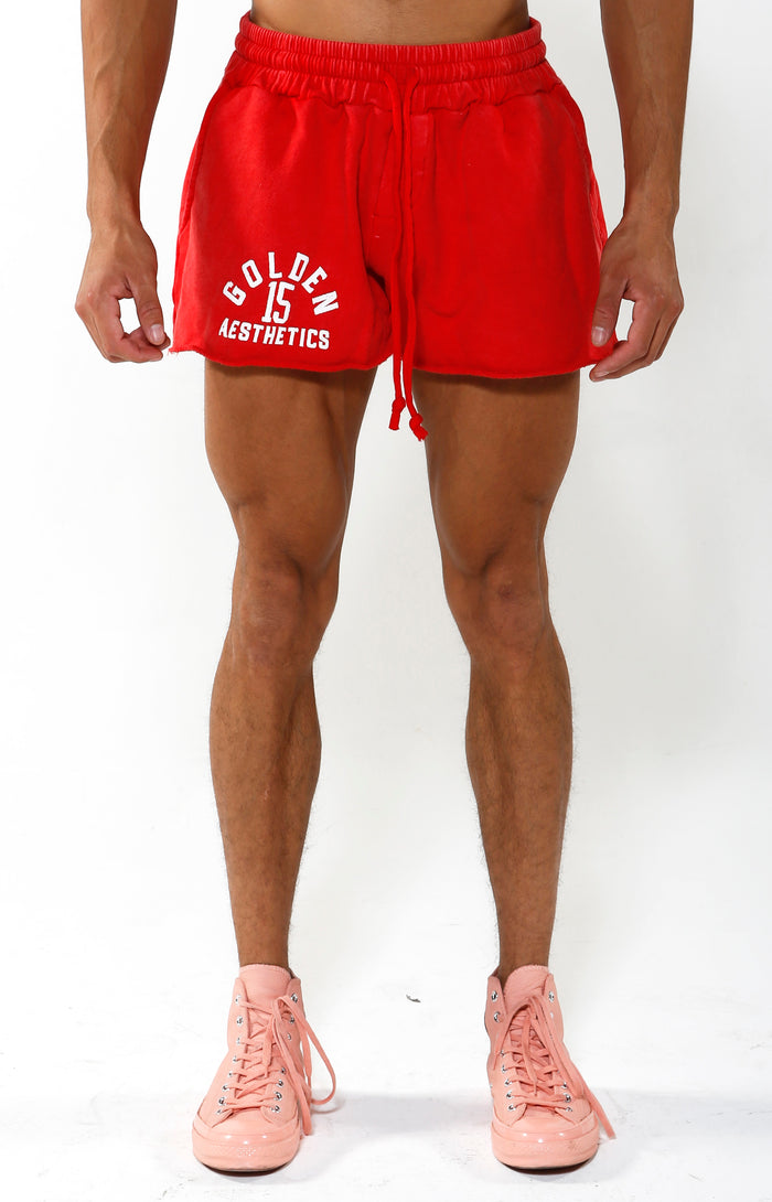 VIP Exclusive - GA 15 Shorts - Red/White - Golden Aesthetics
