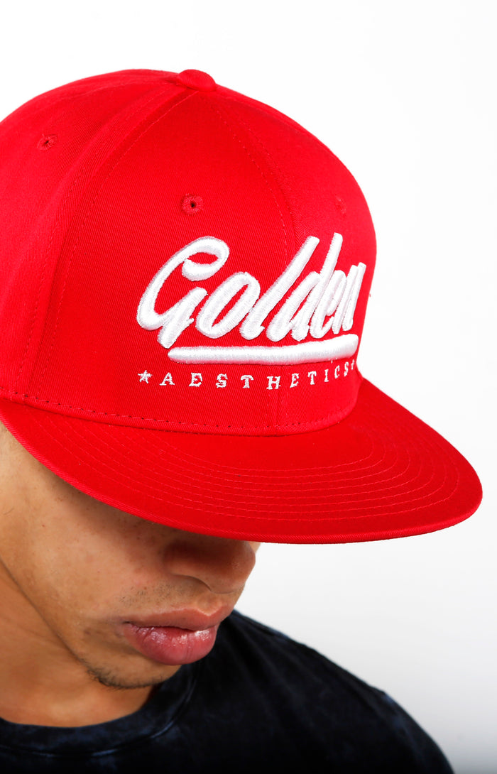 Golden Aesthetics Snapback - Scarlet - Golden Aesthetics
