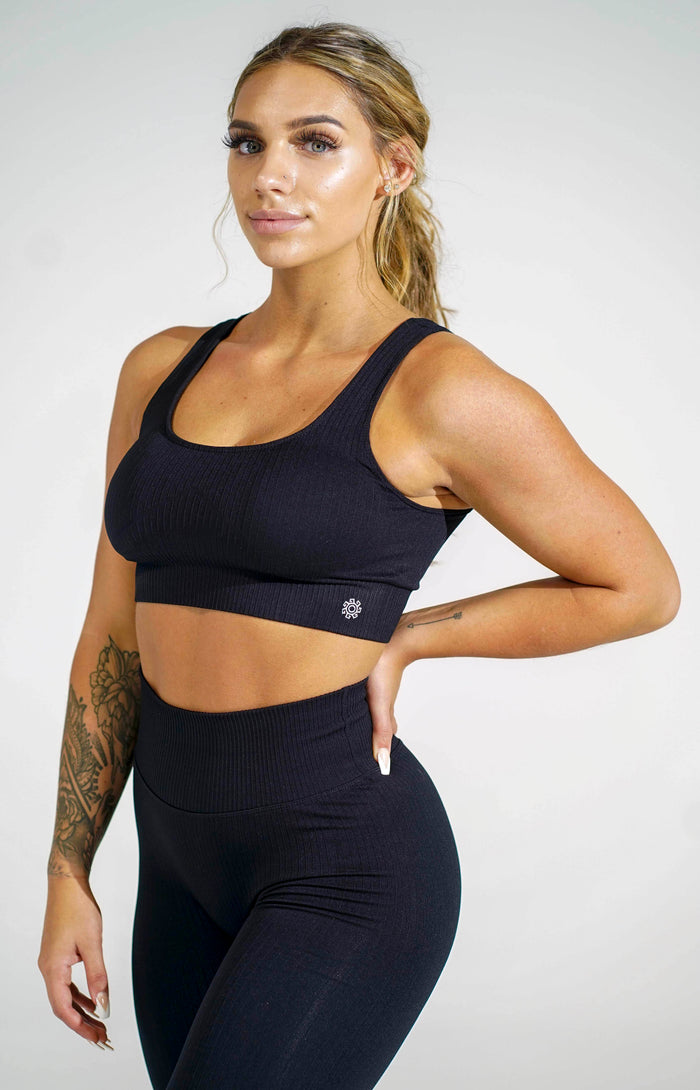 Black Women's Sports Bra