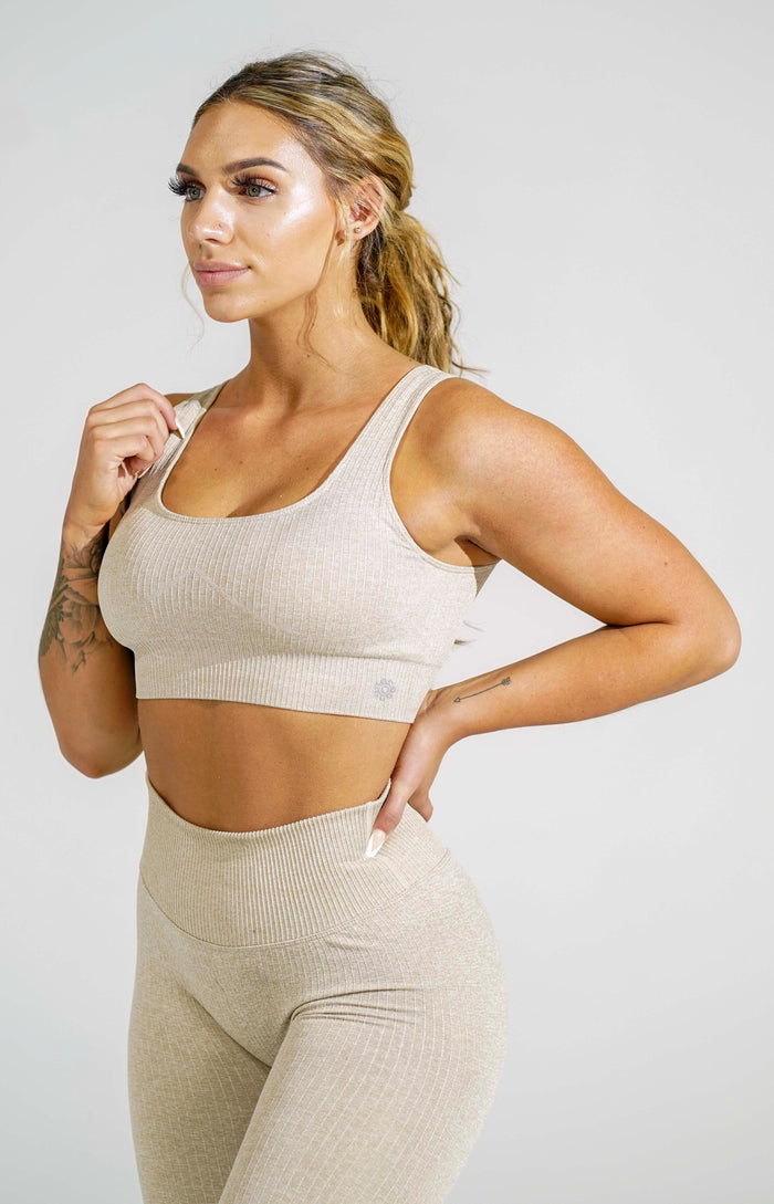 Khaki Women's Sports Bra