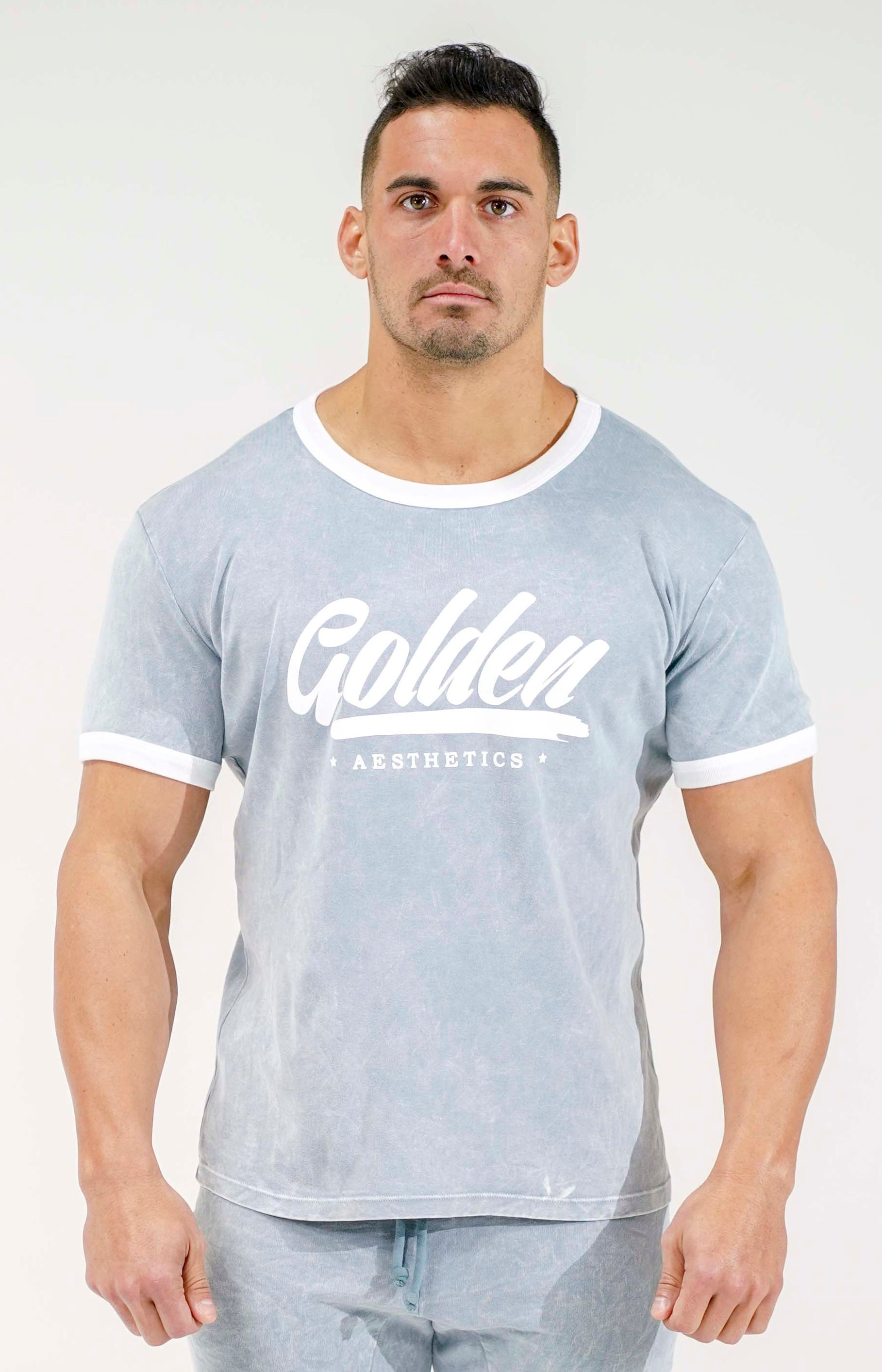 Grey / White Ringer T-Shirt