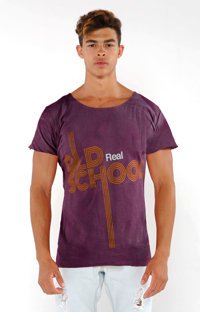 """Real Old School"" Series Top - Faded Lavender - Golden Aesthetics"