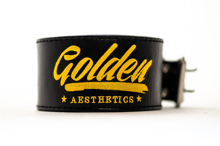 Black Classic GA Leather Weightlifting Belt