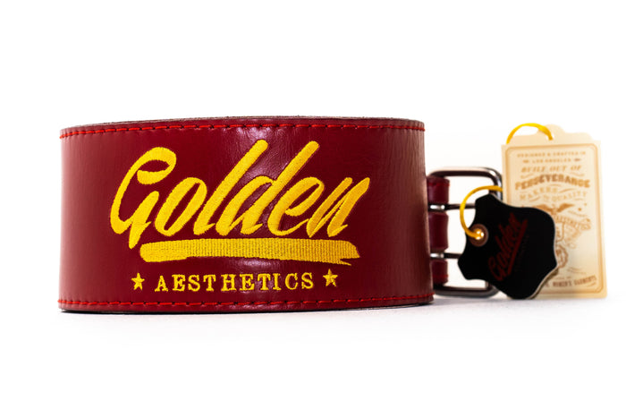 Red Classic GA Leather Weightlifting Belt