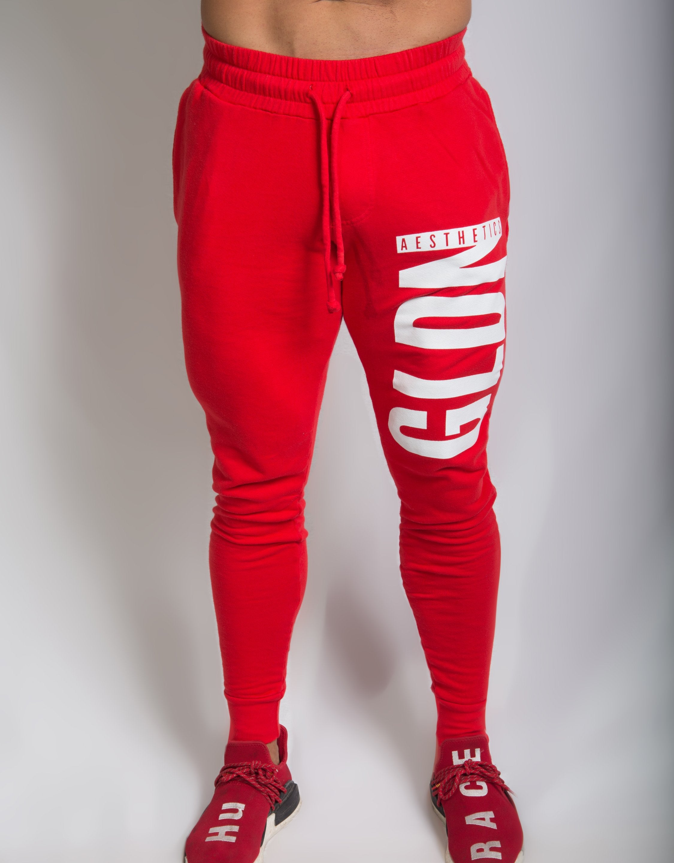 Tapered Ga Joggers - Brash Red - Joggers