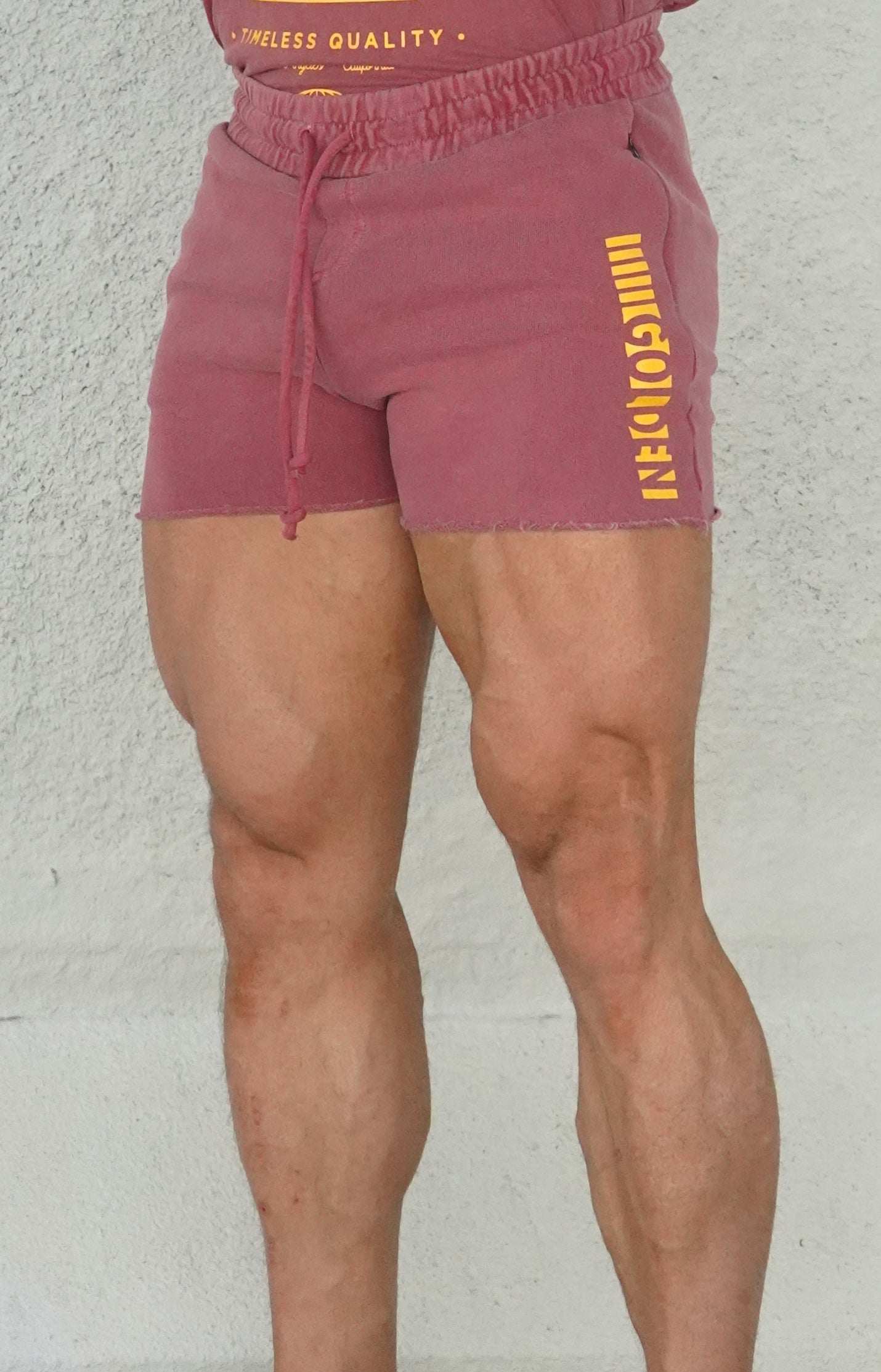 Faded Wine/Gold Short CLassic Shorts
