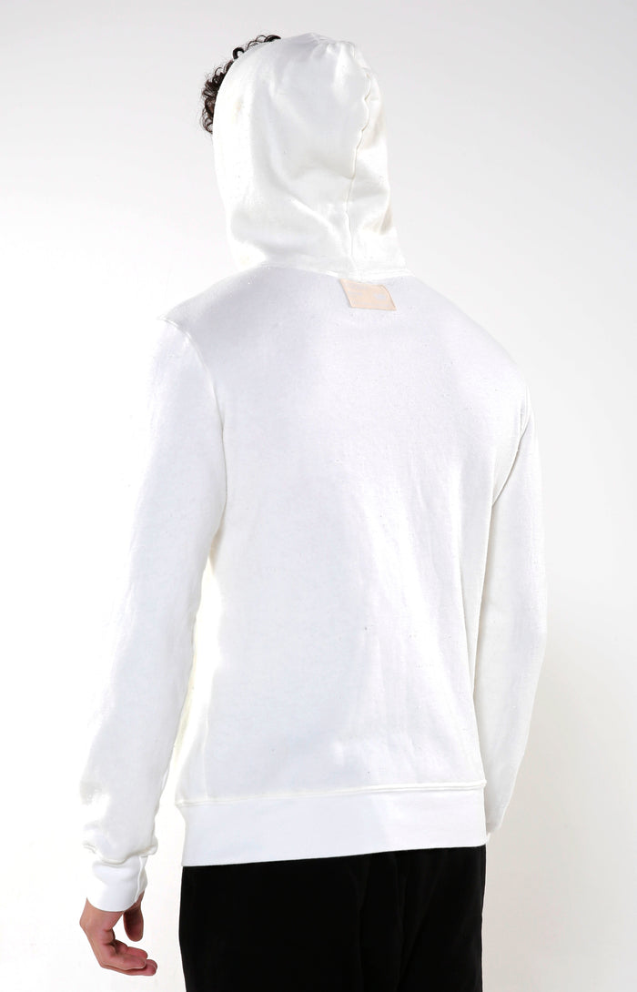 Men's White & Black Iron Hoodie | Golden Aesthetics - Golden Aesthetics