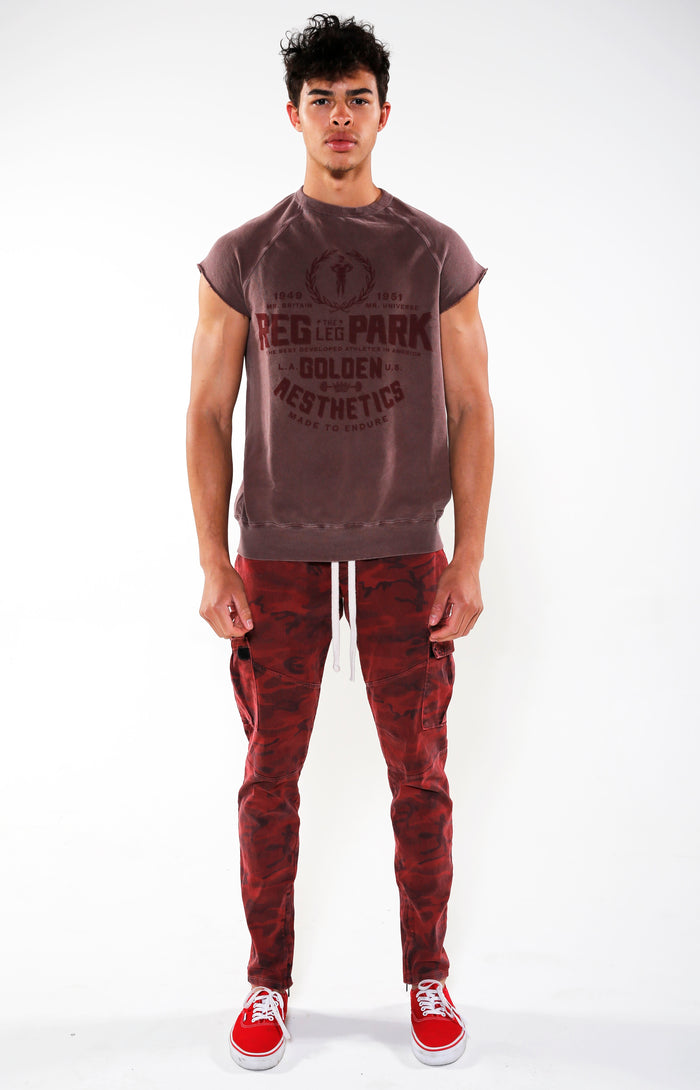 Men's Burgundy Reg Park Top | Golden Aesthetics - Golden Aesthetics