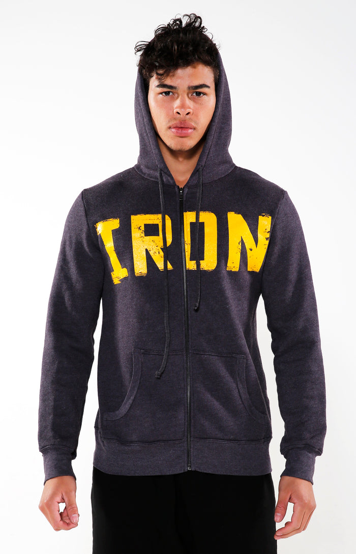 Men's Purple & Yellow Iron Hoodie | Golden Aesthetics - Golden Aesthetics