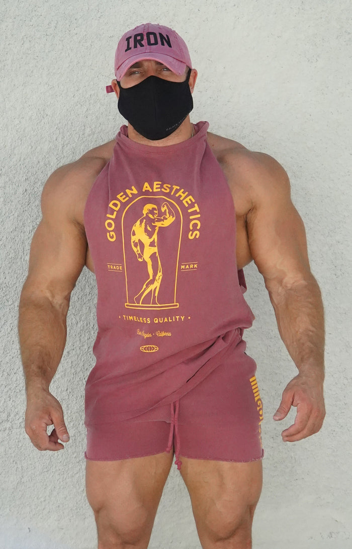 Faded Wine Muscle Tank