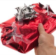 Heart in Box. Bad wrapping. Gift boxes.