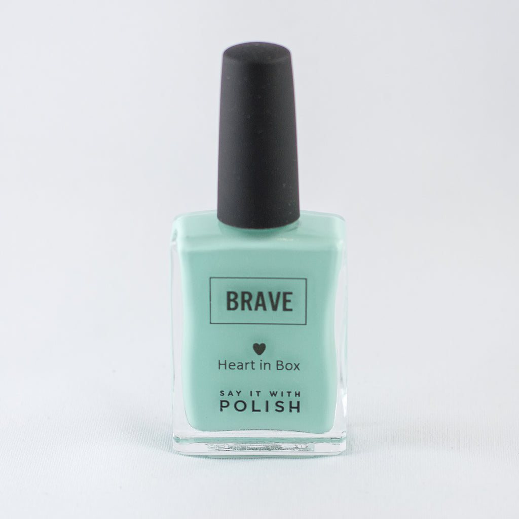 Brave nail polish_gift for mum_heart in box
