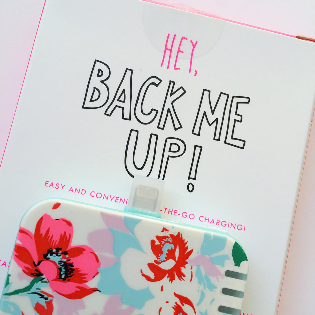 """Back me up"" mobile charger"