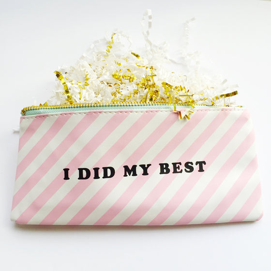 'I did my best' pouch