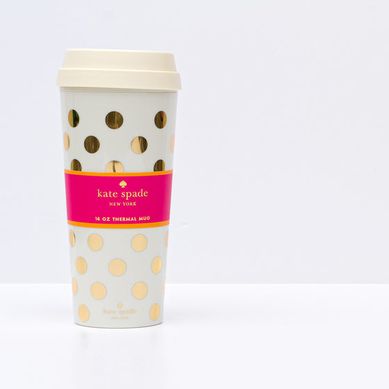 Kate Spade Gold Dots Thermal Mug