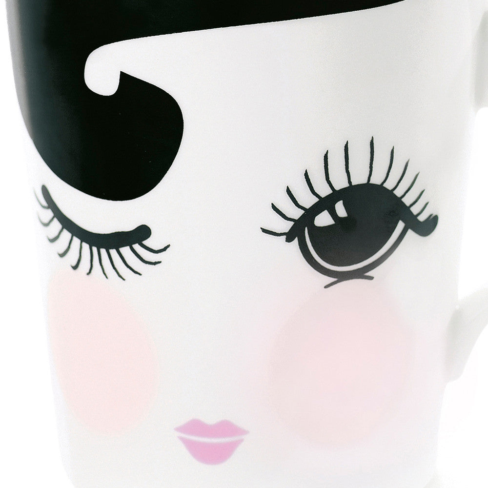 Open and closed eyes Ceramic Mug