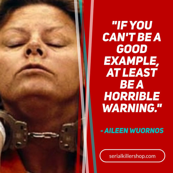 If You Can't Be A Good Example, At Least Be A Horrible Warning Aileen Wuornos Quote