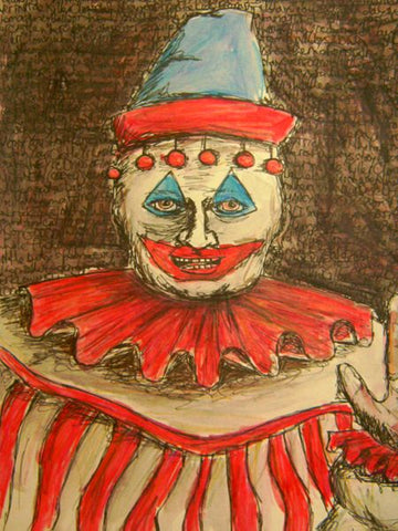 john wayne gacy clown art