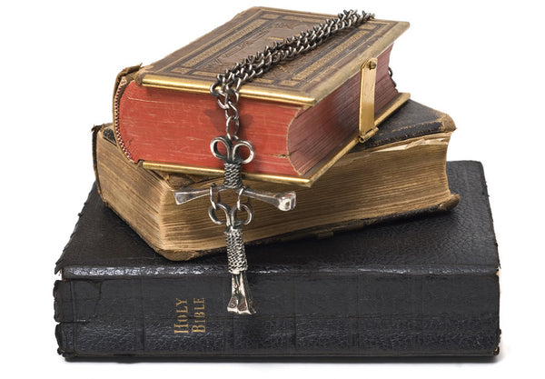 bibles and a crucifix