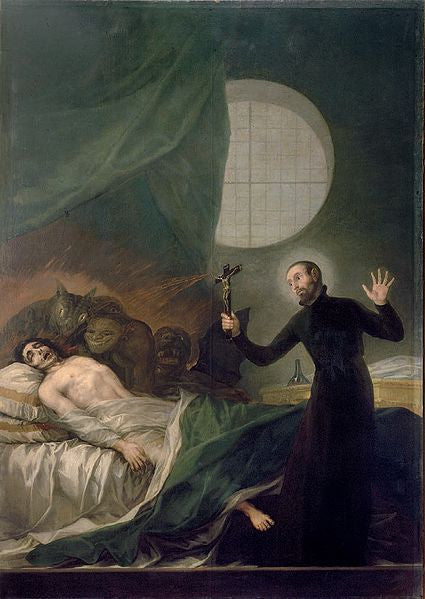 painting of an exorcism