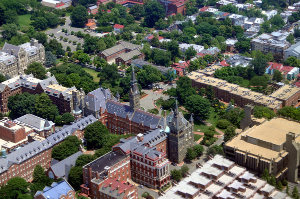 aerial view of georgetown university
