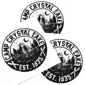 camp crystal lake horror sticker
