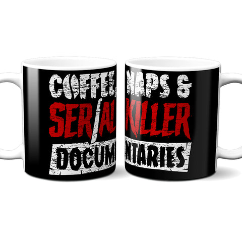 coffee naps serial killer documentaries mug
