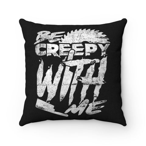 creepy horror pillow